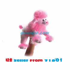 Fancy the Plush Pink Poodle Full Body Puppet By Aurora