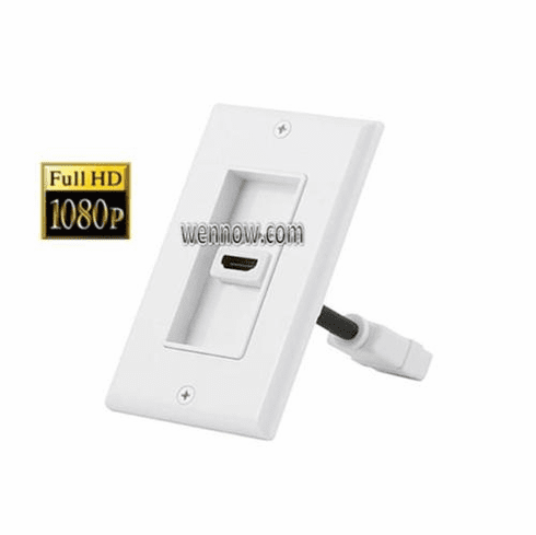 HDMI Two-Piece Inset 1.3a Wall Plate Single Port White