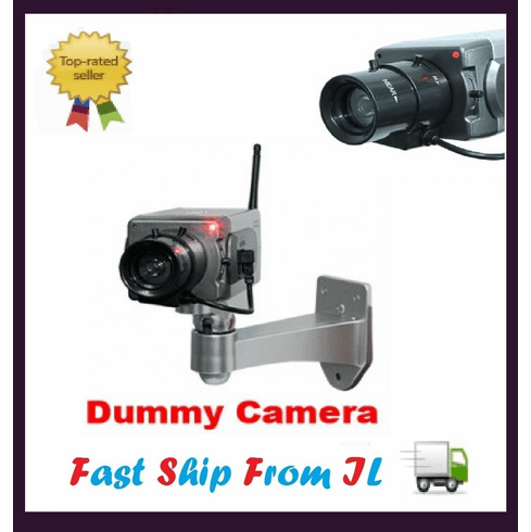 Indoor Home Dummy Zoom Surveillance Camera with LED Light Blinks