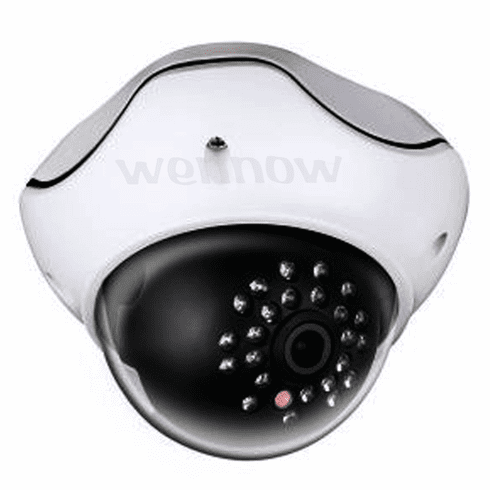 Metal White Dome 2.2MP 4.2mm Fixed Lens 24 IR LED Security Camera