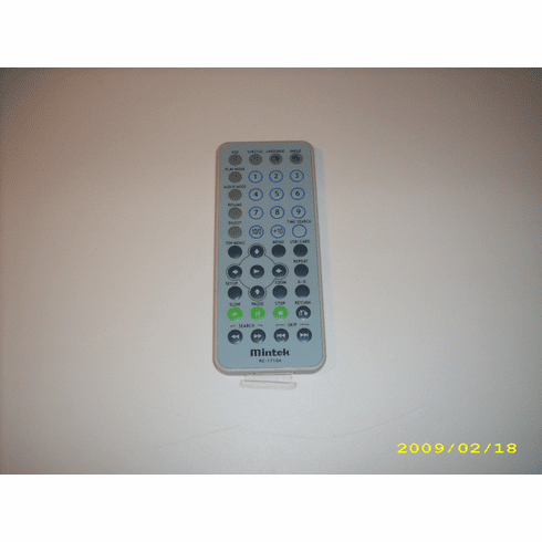 Mintek RC-1710A portable DVD player remote control