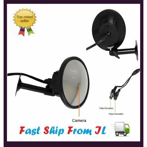 Mirror Hidden Security CCTV Camera CM-S10023BK