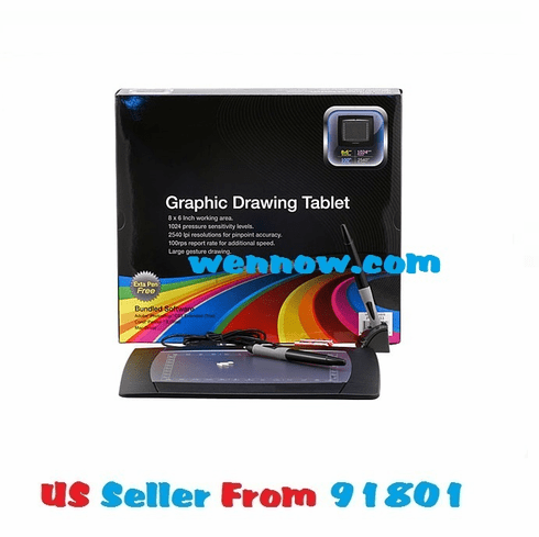 "New USB 8x6"" Graphic Drawing TABLET for Win & MAC"