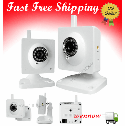 Pair Indoor Wireless WiFi IR NightVision Audio Video IP Network Camera
