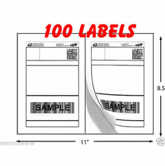 Permanent-Adhesive 100 Premium Shipping Labels 8.5x5.5 Half-Sheet Self