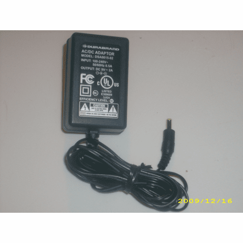 Portable DVD Player DSA0015-02 9V 2.0A Power Adapter