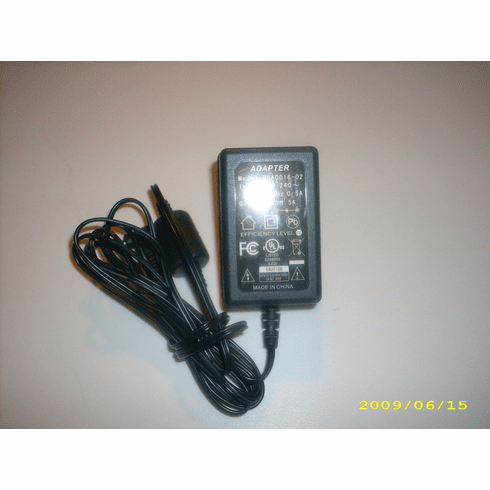 Portable DVD Player DSA0016-02 9V 1.5A Power Adapter