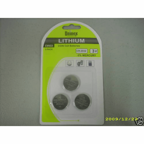 Portable DVD Player Remote CR 2032 3V Lithium Battery