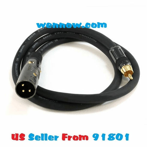 Premier Series XLR Male to RCA Male 16AWG Cable - 3ft