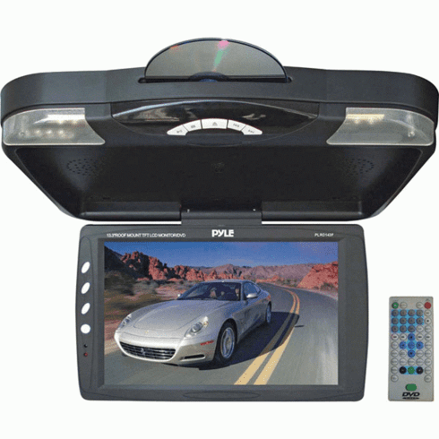 "Pyle PLRD143F 13.3"" TFT LCD Roof Mount Monitor With Built-In DVD"