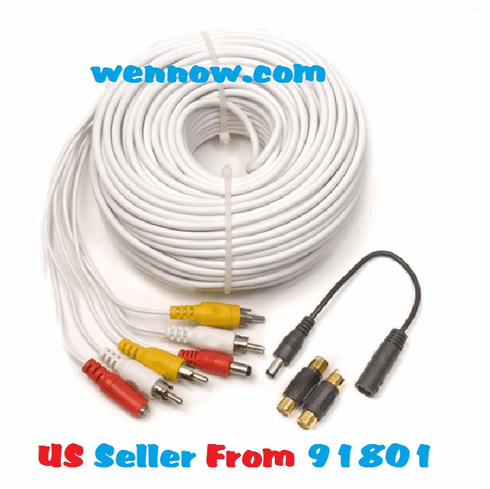 Q-See 120ft Audio Video Power cable for CCTV - QS120F