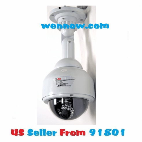 QSDS1312D Outdoor CCD Dome Camera 480TVL 3.6mm Lens