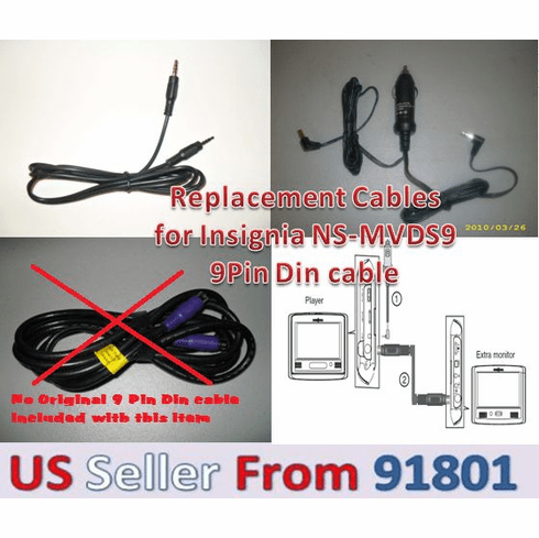 Replacement Cables 4 Original Insignia NS-MVDS9 9P Din