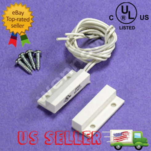 UL listed 1 1/3 x 1/2 x 1/4 Standard Surface M. Contact Switch White