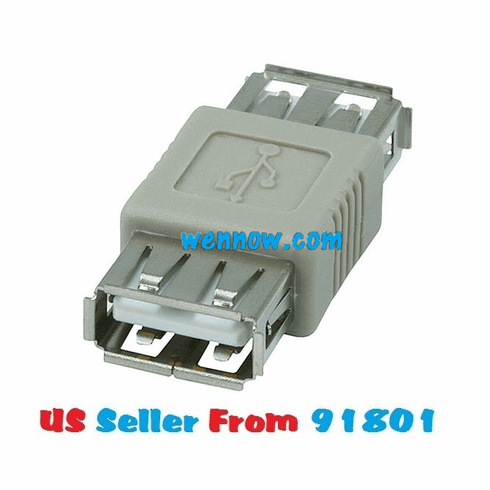 USB 2.0 Type A Female to A Female Coupler Adapter