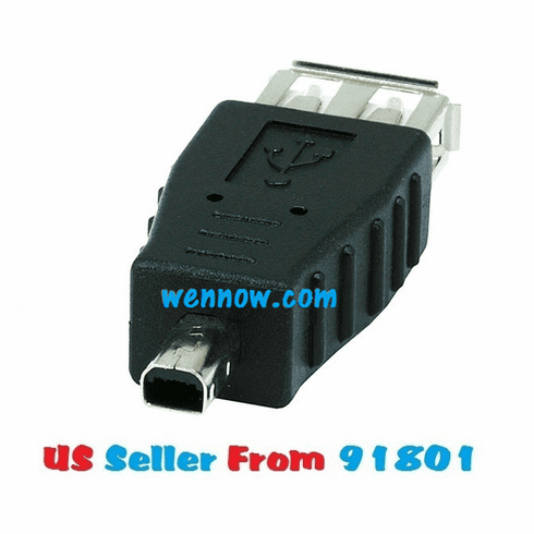 USB 2.0 Type A Female to Mini 4 pin (B4) Male Adapter