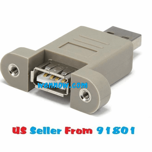 USB 2.0 Type A Male to Type A Female Port Saver