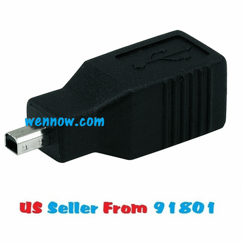 USB 2.0 Type B Female to Mini 5 pin (B5) Male Adapter