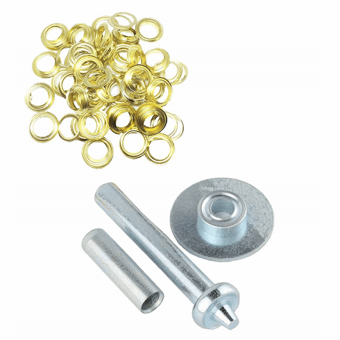 "WennoW 103pc 1/2"" Brass Grommet Installation Tool Kit Tarp Tent Canopy Awning Repair New"