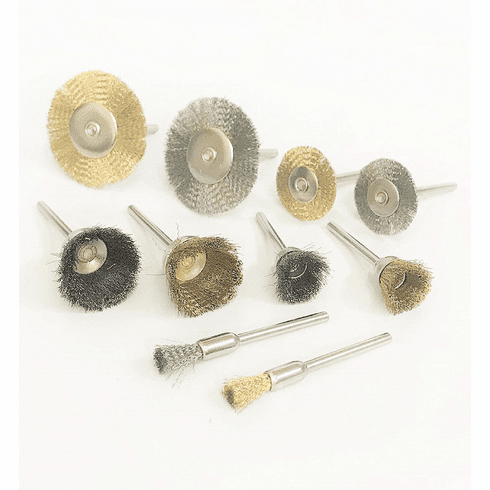 WennoW 20pc Mini Stainless Steel Brass Wire Brush Wheel Cup For Rotary Tool Set