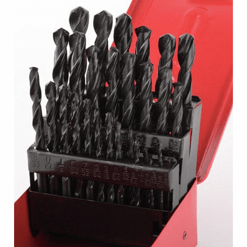 WennoW 29pc Drill Bit Set High Speed Bits Steel Drill Bits w/Metal Index Box New