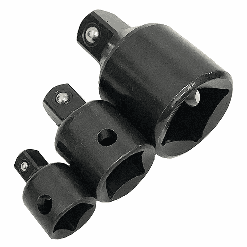 "WennoW (3-pc) 1/2,3/8 to 3/4"" SOCKET REDUCER ADAPTERS IMPACT"