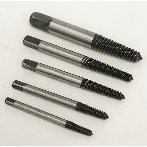 WennoW 5pc BOLT SCREW REMOVER BROKEN EXTRACTOR KIT EZ EASY OUTS OUT STUD REVERSE THREAD