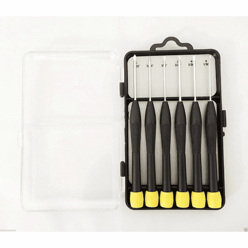 Wennow 6pc Screwdriver Set Phillips Flat Slot Head Tip Computer Screw Driver
