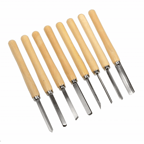 WennoW 8pc Wood Lathe Chisel Set Turning Tools Woodworking Gouge Skew Parting Spear NEW