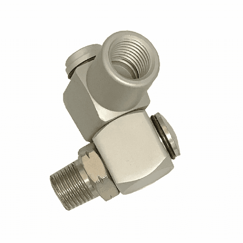"WennoW Industrial Aluminum Air Swivel Fitting Connectors Hose Tool Coupler 1/4"" NPT"