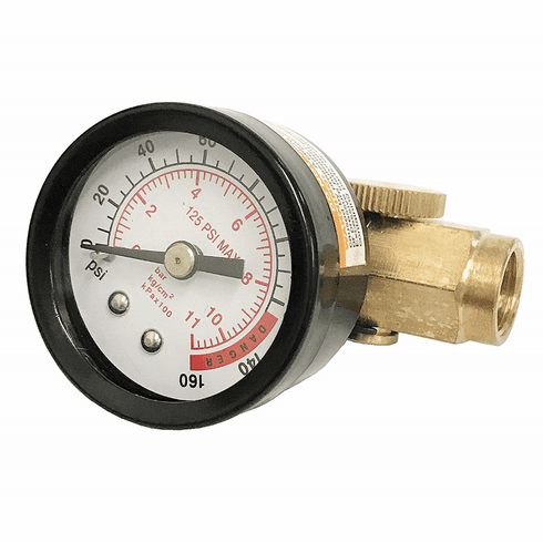 WennoW Inline Air Pressure Regulator with Gauge Solid Brass Construction 160 PSI NEW