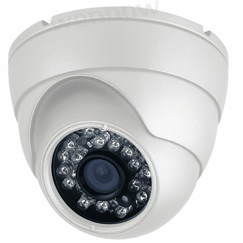 White 600 TVL, PixelPlus,3.6mm fixed lens,48 Pcs IR LEDs,Dome Security Camera