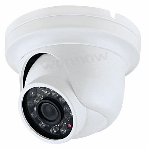 "White 650 TVL 1/3"" Color CCD,3.6mm Lixed lens,23Pcs IR LEDs Dome Security Camera"