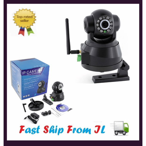 Wireless WiFi IR Night Vision Pan Tilt IP Network Camera CM-I11123BK
