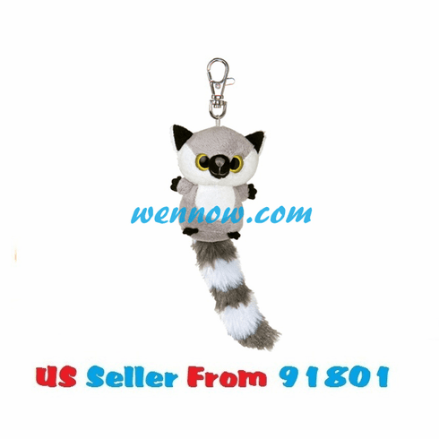 YooHoo And Friends 3 Inch Plush Lemmee Lemur Clip On Stuffed Animal By