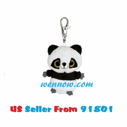 YooHoo And Friends 3 Inch Plush Ring Ring Panda Clip On Stuffed Animal