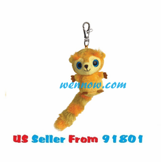 YooHoo And Friends 3 Inch Plush Sunny The Golden Lion Tamarin Clip On