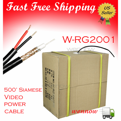 Zmodo 500' Siamese video/power cable W-RG2001