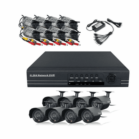 ZMODO 8 Channel CCTV Security DVR IR Camera System No Hard Drive  PKD-DK80208