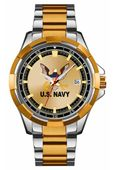 Classic U.S. Navy Watch with Two Tone Band and Case