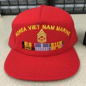 Custom USMC Cap - Text, Image, and Ribbons