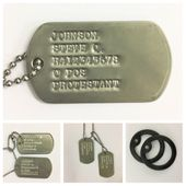 Military Dog Tags No Notch (Vietnam - Current)