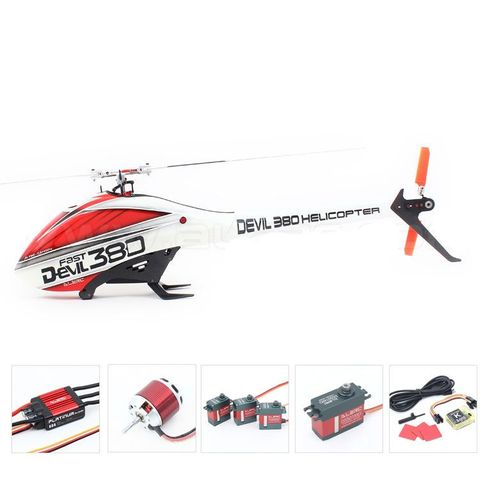 ALZRC Devil 380 6CH 3D FBL Heliopter Combo with Motor ESC Servo Gyro