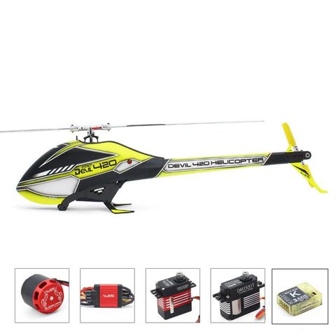 ALZRC Devil 420 FAST FBL 6CH 3D RC Helicopter Super Combo