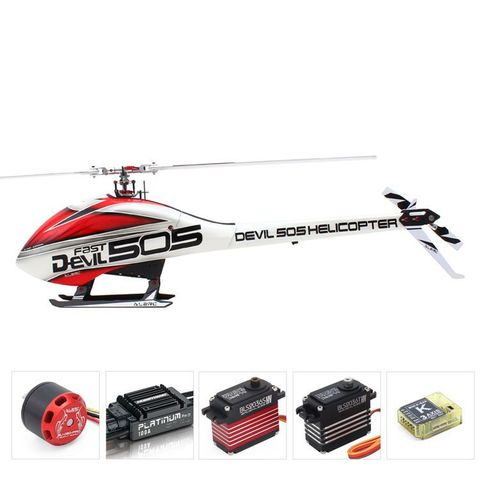 ALZRC Devil 505 Fast FBL 3D Helicopter Combo with Motor ESC Servo Gyro