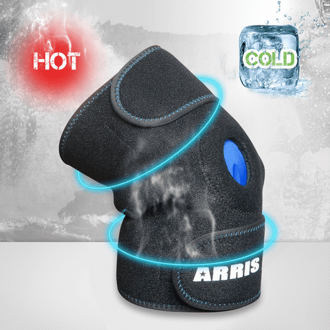 Arris Knee Ice Pack, Hot Cold Therapy Knee Wrap Ice Knee Brace for Joint Pain, Bursitis Arthritis Knee Pain Relief, Meniscus Tear, Sprains & Swelling (Flexible, Reusable and Adjustable)