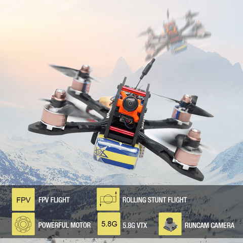 "ARRIS X140 140MM 3"" 3-4S Brushless FPV Racing Drone w/Runcam Micro Swift Camera"