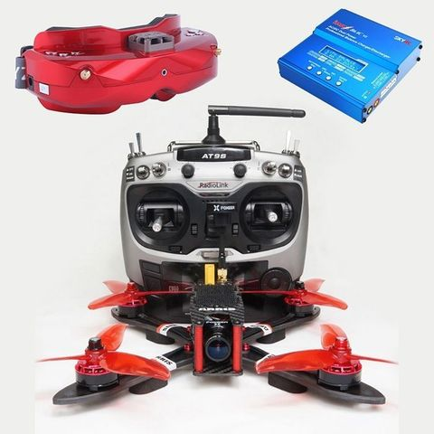 Free Shipping ARRIS X220 V2 FPV Racing Drone RTF with Skyzone SKY02C FPV Goggle Combo