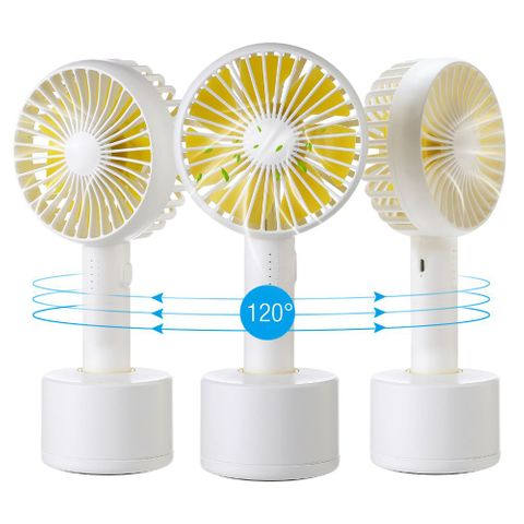 Mini Handheld Personal Fan, Portable Rotate USB Fan Battery Powered Electric Fan/Rechargeable/Small for Woman Men Kids/Office Room Outdoor Travel Desk Table Computer(US Warehouse)