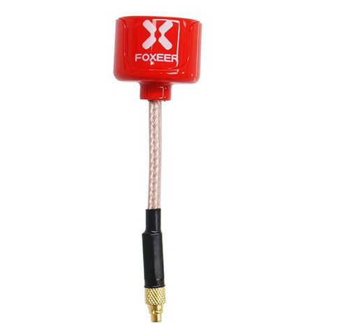 Foxeer Lollipop 5.8G RHCP TX RX StraightMMCX Red FPV Antenna(2pcs)